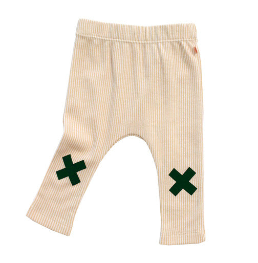 Logo Stripe Pants Camel