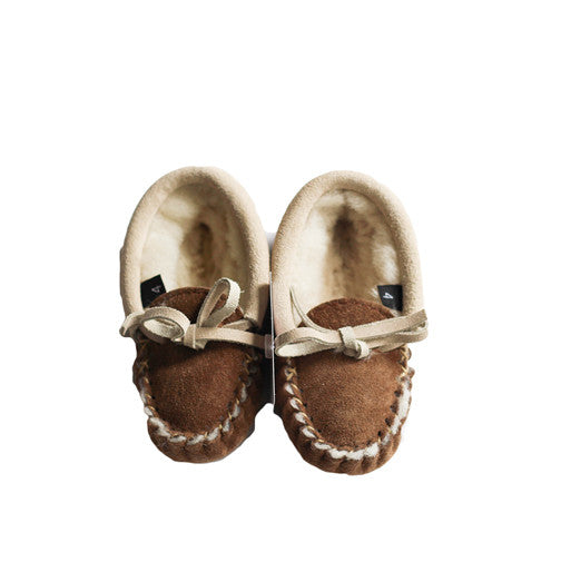 Childrens Clay Fur lined Slippers