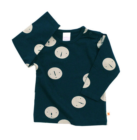 Navy Faces Long Sleeve Tee
