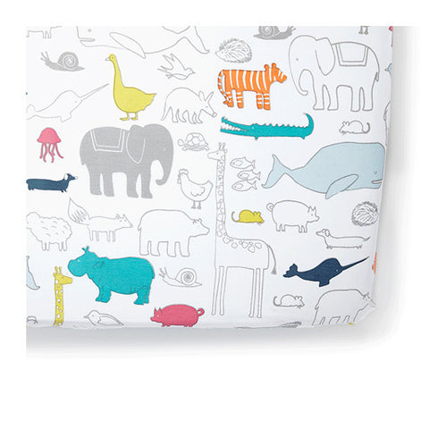 Noah's Ark Fitted Crib Sheet