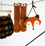 Orange Raccoon Knee Socks
