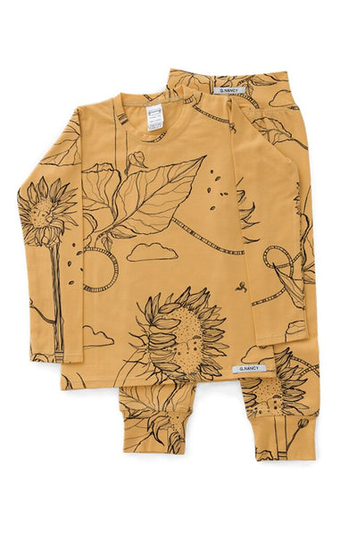 Ochre Sunflower Long PJ