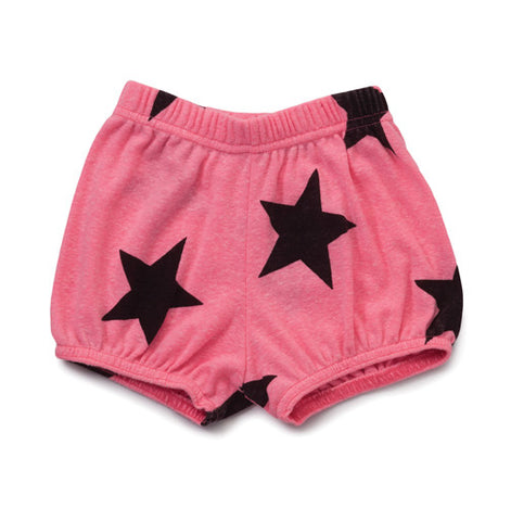 Neon Pink Star Yoga Short