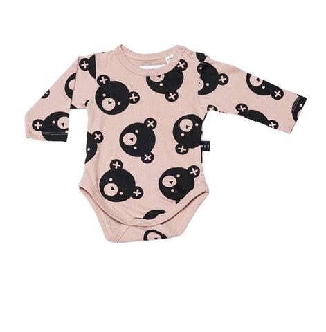Fawn Falling Bears Long Sleeve Onsie