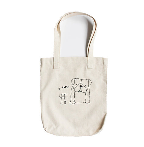 Rufus and Murdog Logo Tote