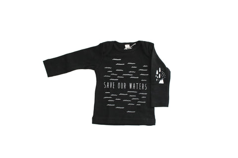 Long Sleeve Save Our Waters + Woods Tee with elbow patch