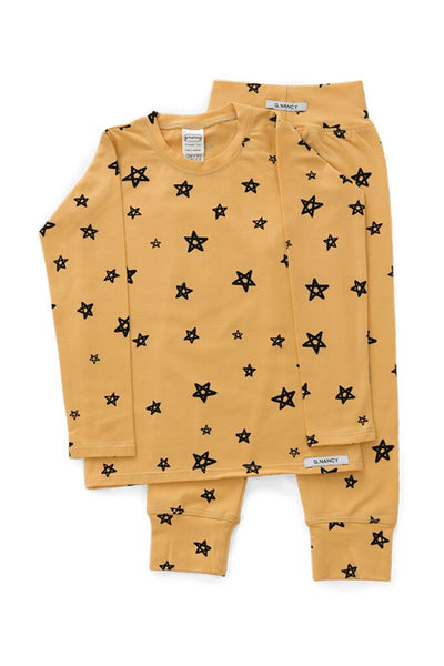 Ochre star long sleeve PJ set