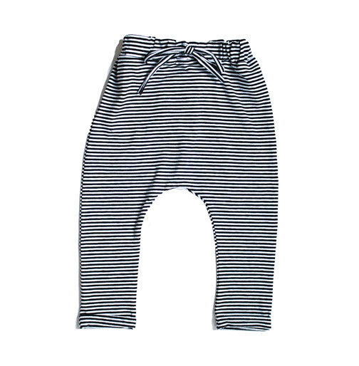Striped Jersey Harem Pants