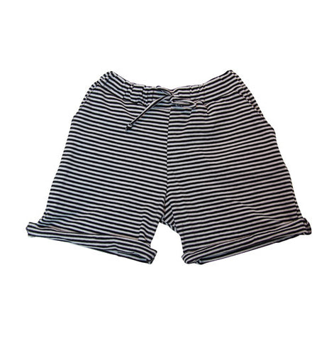 Black and White Stripe Shorts