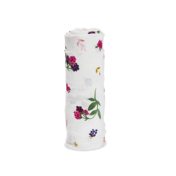 Little Unicorn Deluxe Swaddle Berry Patch