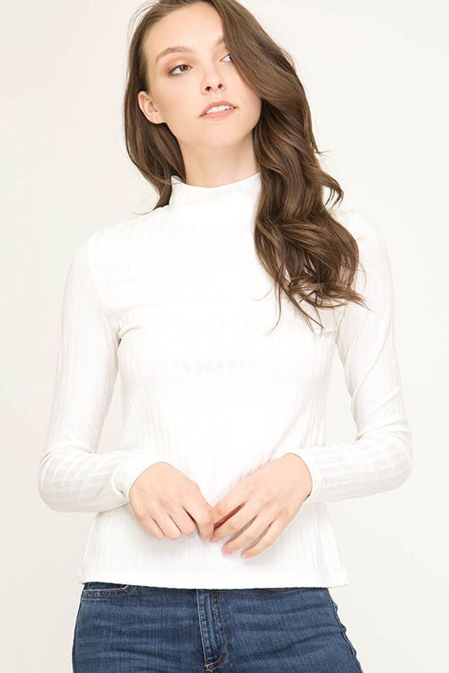 Baby It's Cold Outside Mock Neck Sweater - Ivory