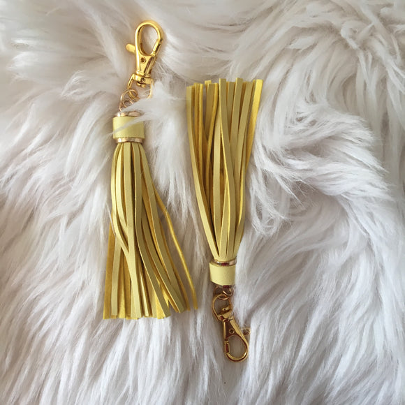 Makeup Junkie Tassel - Pale Yellow