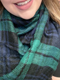 Blanket Scarf - Green/Blue