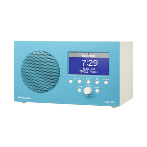 Albergo Clock Radio, Bluetooth, Blue
