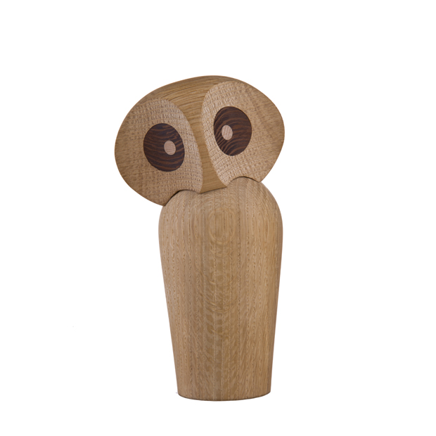 ArchitectMade Wood Owl, Large, Natural