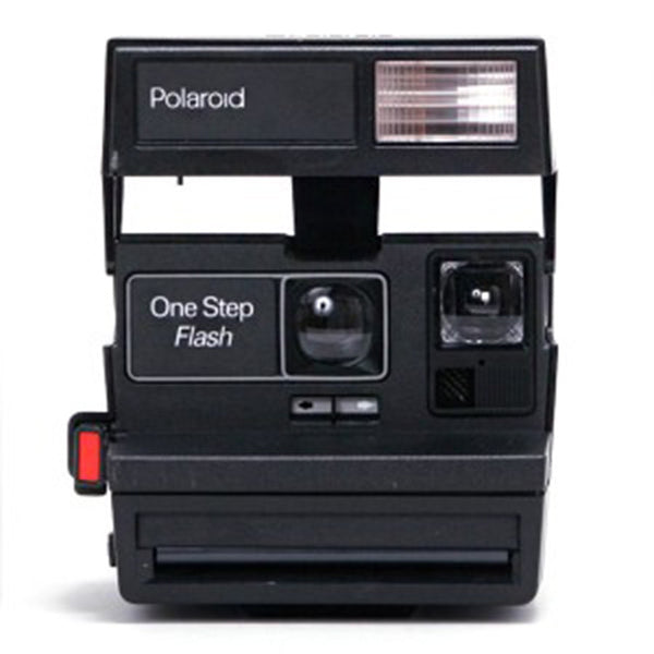 Vintage Polaroid 600 Camera, Black Flash
