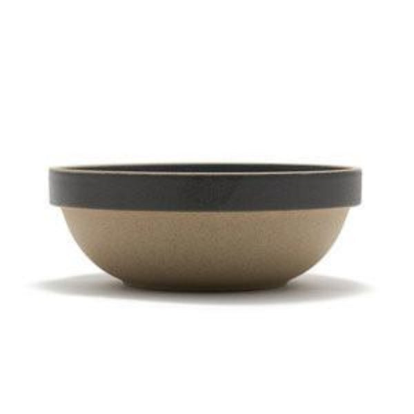 "Hasami Porcelain Round Bowl, 7.25"", Black"