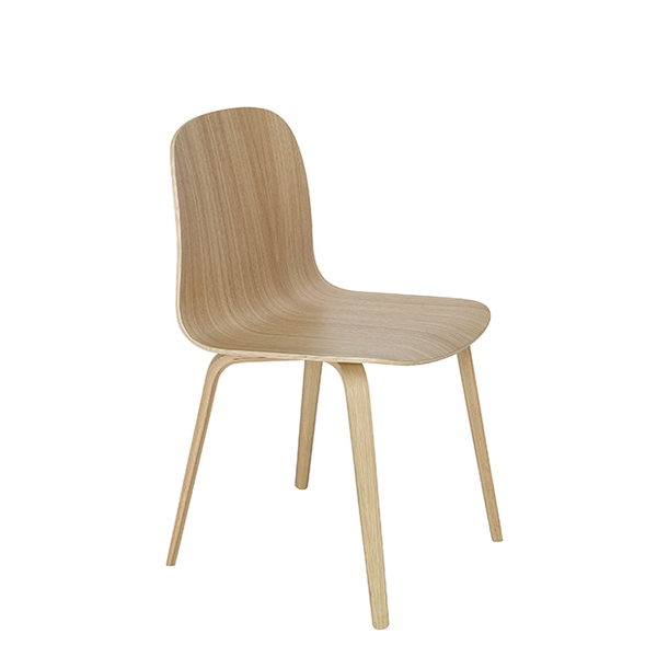 Visu Chair, Wood Base, Oak/Oak
