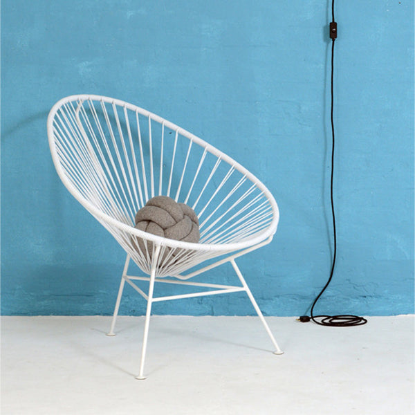 Acapulco Chair, White Cord/White Base