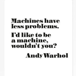 "Andy Warhol Poster, ""I Want To Be A Machine"" Framed"