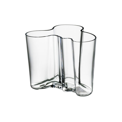 Aalto Vase 4.75 in, Clear