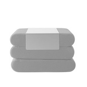 Bingo Pouf, Light Grey Felt
