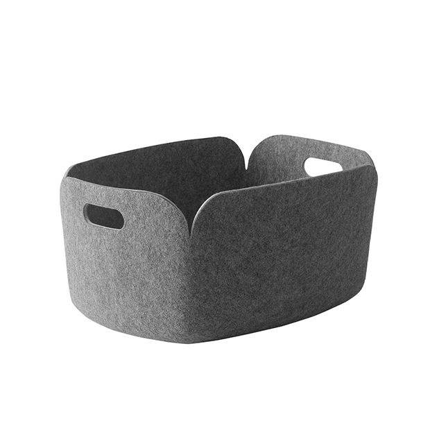 Restore Felt Storage Basket, Grey