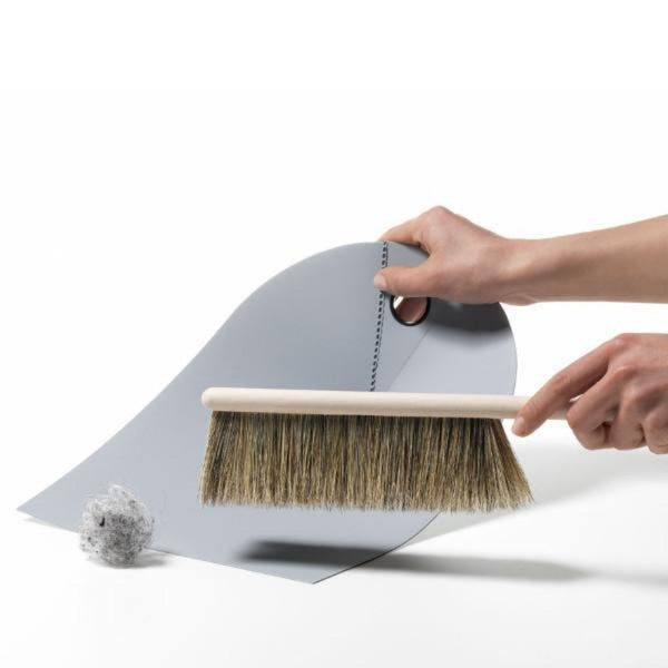 Dust Pan and Broom, Light Grey