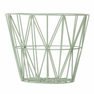 Wire Basket, Mint, Large