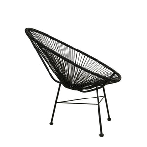 Acapulco Chair, Black Cord/Black Frame