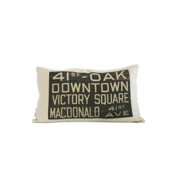 MOV Bus Scroll Pillow, 41st + Oak