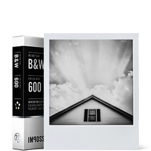 Instant B+W Film for Polaroid 600, single pack