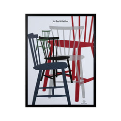 FDB chair poster, J46, Framed