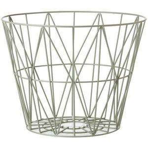 Wire Basket, Large, Dusty Green