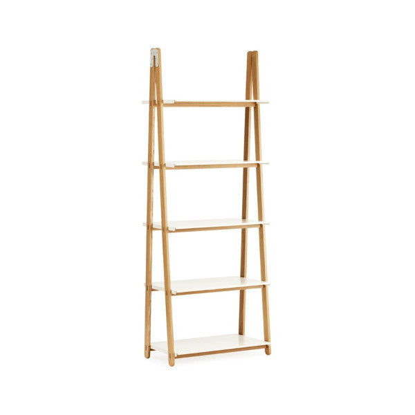 One Step Up Bookcase High, White