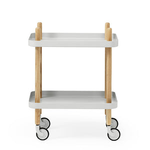 Block Table, Light Grey