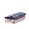 Ekko Throw Blanket, navy/rose