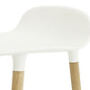 Form Stool 65cm, White/Oak