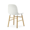 Form Chair, White/Oak