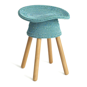 Coiled Stool, Aqua