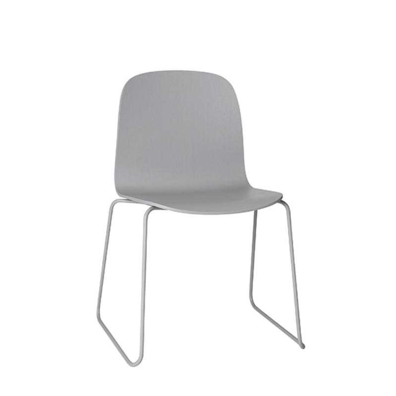 Visu Chair, Metal Base, Grey/Grey