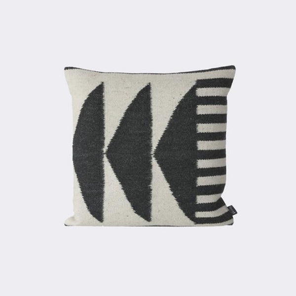 Kelim Cushion, Black Triangles