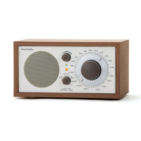 Model One Table Radio, Classic Walnut/Beige