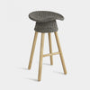 Coiled Counter Stool, 65cm, Grey