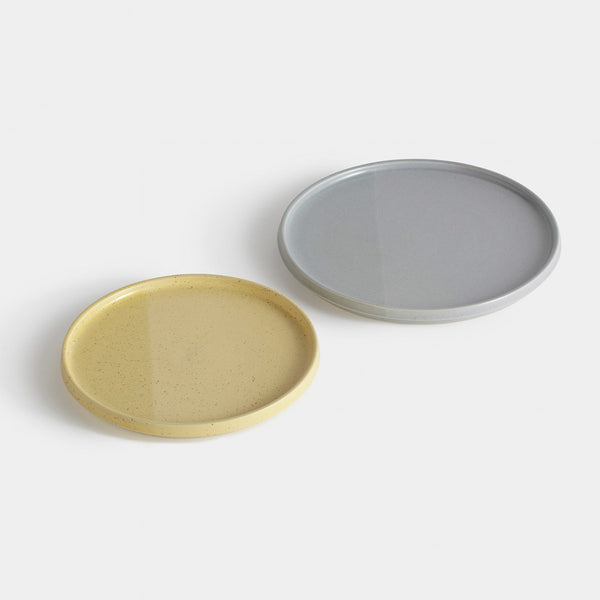 Sediment Tableware, Plate, Grey/Yellow