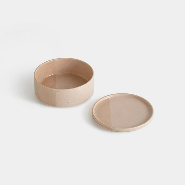 Sediment Tableware, Bowl + Plate, Pink