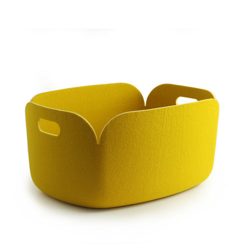 Restore Felt Storage Basket, Yellow