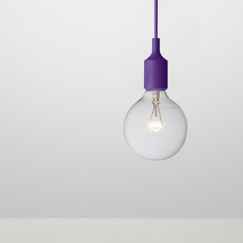 E27 Light, Purple, Halogen