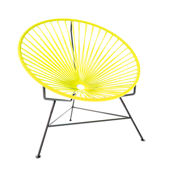 Condesa Chair, Yellow Cord/ Black Frame