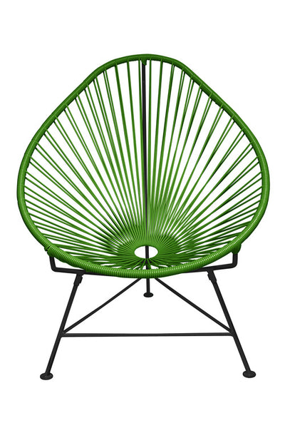 Acapulco Chair, Cactus Green Cord/Black Base